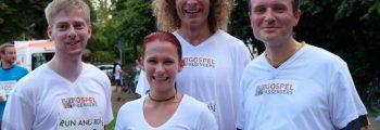 Dresdner Gospel Chor im Ziel beim Run And Roll