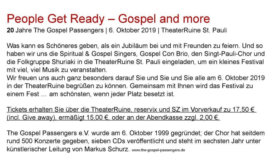 Dresdner Gospel Chor The Gospel Passengers 20-Jahre-Chorfestival People-Get-Ready