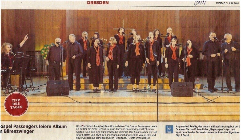 Dresdner Gospel Chor The Gospel Passengers feiern Record Releas Party im Bärenzwinger